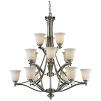 Z-Lite Lagoon 15 Light Chandelier in Brushed Nickel 704-15-BN