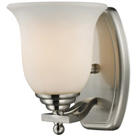 Lagoon 1 Light 8 inch Brushed Nickel Vanity Wall Light