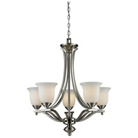 Z-Lite 704-5-BN Lagoon 5 Light 27 inch Brushed Nickel Chandelier Ceiling Light