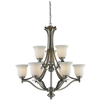 Z-Lite Lagoon 9 Light Chandelier in Brushed Nickel 704-9-BN