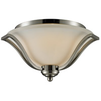 Z-Lite Lagoon 3 Light Flush Mount in Brushed Nickel 704F3-BN