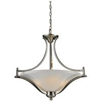 Z-Lite 704P-BN Lagoon 3 Light 24 inch Brushed Nickel Pendant Ceiling Light