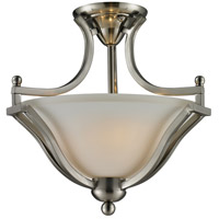 Lagoon 2 Light 15 inch Brushed Nickel Semi Flush Mount Ceiling Light