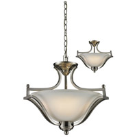 Lagoon 3 Light 20 inch Brushed Nickel Convertible Pendant Ceiling Light