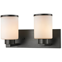 Z-Lite 705-2V-BRZ Roxburgh 2 Light 15 inch Bronze Vanity Wall Light