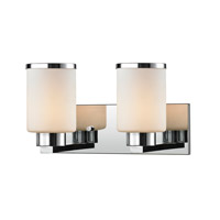 Z-Lite 707-2V-CH Roxburgh 2 Light 15 inch Chrome Vanity Light Wall Light