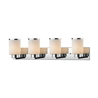 Z-Lite 707-4V-CH Roxburgh 4 Light 32 inch Chrome Vanity Wall Light