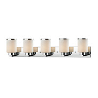 Roxburgh 5 Light 40 inch Chrome Vanity Light Wall Light