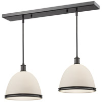 Z-Lite 712P13-2BRZ Mason 1 Light 30 inch Bronze Island Light Ceiling Light