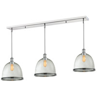 Z-Lite 719P13-3CH Mason 3 Light 55 inch Chrome Island Light Ceiling Light in 13