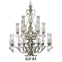 Melina 18 Light 41 inch Antique Silver Chandelier Ceiling Light