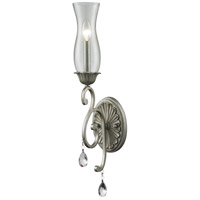 Melina 1 Light 7 inch Antique Silver Wall Sconce Wall Light