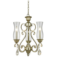 Z-Lite Melina 3 Light Chandelier in Antique Silver 720-3-AS