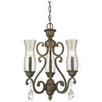 Z-Lite Melina 3 Light Chandelier in Golden Bronze 720-3-GB