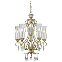 Melina 5 Light 22 inch Antique Silver Chandelier Ceiling Light