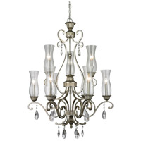 Z-Lite 720-9-AS Melina 9 Light 29 inch Antique Silver Chandelier Ceiling Light