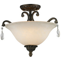 Melina 3 Light 17 inch Golden Bronze Semi Flush Mount Ceiling Light
