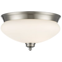 Z-Lite 721F2-BN Amon 2 Light 13 inch Brushed Nickel Flush Mount Ceiling Light