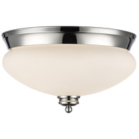 Amon 2 Light 13 inch Chrome Flush Mount Ceiling Light