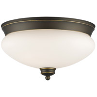 Amon 2 Light 13 inch Olde Bronze Flush Mount Ceiling Light