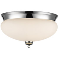 Z-Lite 721F3-CH Amon 3 Light 15 inch Chrome Flush Mount Ceiling Light