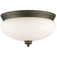 Z-Lite 721F3-OB Amon 3 Light 15 inch Olde Bronze Flush Mount Ceiling Light