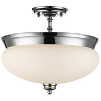 Z-Lite 721SF-CH Amon 3 Light 15 inch Chrome Semi Flush Mount Ceiling Light