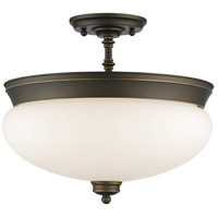 Z-Lite 721SF-OB Amon 3 Light 15 inch Olde Bronze Semi Flush Mount Ceiling Light