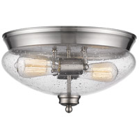 Amon 2 Light 13 inch Brushed Nickel Flush Mount Ceiling Light