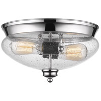 Z-Lite 722F2-CH Amon 2 Light 13 inch Chrome Flush Mount Ceiling Light
