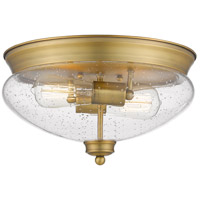 Z-Lite 722F2-HBR Amon 2 Light 13 inch Heritage Brass Flush Mount Ceiling Light