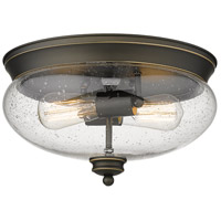Z-Lite 722F2-OB Amon 2 Light 13 inch Olde Bronze Flush Mount Ceiling Light