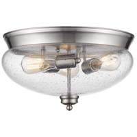 Amon 3 Light 15 inch Brushed Nickel Flush Mount Ceiling Light