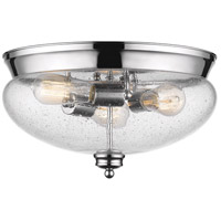 Amon 3 Light 15 inch Chrome Flush Mount Ceiling Light