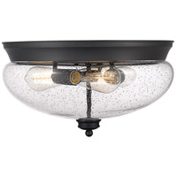 Z-Lite 722F3-MB Amon 3 Light 15 inch Matte Black Flush Mount Ceiling Light in 6, Matte Opal Glass