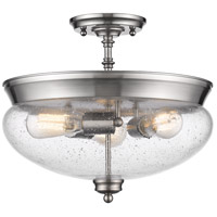 Z-Lite Amon 3 Light Semi Flush Mount in Brushed Nickel 722SF-BN