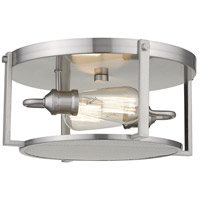Z-Lite 723F13-BN Halcyon 2 Light 14 inch Brushed Nickel Flush Mount Ceiling Light