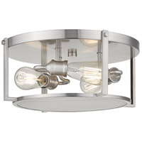 Z-Lite 723F15-BN Halcyon 3 Light 16 inch Brushed Nickel Flush Mount Ceiling Light