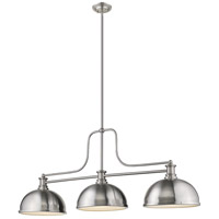 Z-Lite 725-3BN-D12BN Melange 3 Light 13 inch Brushed Nickel Chandelier Ceiling Light in Brushed Nckel Metal and Glass