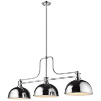 Z-Lite 725-3CH-D12CH Melange 3 Light 13 inch Chrome Chandelier Ceiling Light in Chrome Metal and Glass