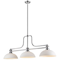 Z-Lite 725-3CH-DMO14 Melange 3 Light 13 inch Chrome Chandelier Ceiling Light in Matte Opal Glass