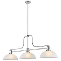 Z-Lite 725-3CH-DWL14 Melange 3 Light 13 inch Chrome Chandelier Ceiling Light in White Linen Glass