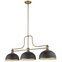 Z-Lite 725-3HBR-D12BRZ+HBR Melange 3 Light 13 inch Heritage Brass Chandelier Ceiling Light