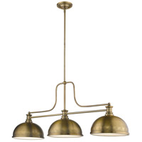 Z-Lite 725-3HBR-D12HBR Melange 3 Light 13 inch Heritage Brass Chandelier Ceiling Light