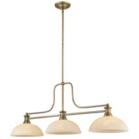 Z-Lite 725-3HBR-DGM14 Melange 3 Light 13 inch Heritage Brass Chandelier Ceiling Light