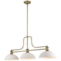 Z-Lite 725-3HBR-DMO14 Melange 3 Light 13 inch Heritage Brass Chandelier Ceiling Light