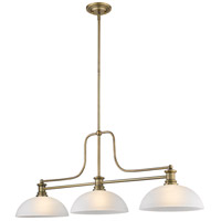 Z-Lite 725-3HBR-DWL14 Melange 3 Light 13 inch Heritage Brass Chandelier Ceiling Light