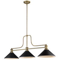 Z-Lite 725-3HBR-MMB Melange 3 Light 13 inch Heritage Brass Chandelier Ceiling Light