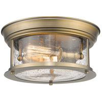 Z-Lite 727F10-HBR Sonna 2 Light 11 inch Heritage Brass Flush Mount Ceiling Light