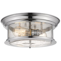 Z-Lite 727F13-CH Sonna 2 Light 14 inch Chrome Flush Mount Ceiling Light